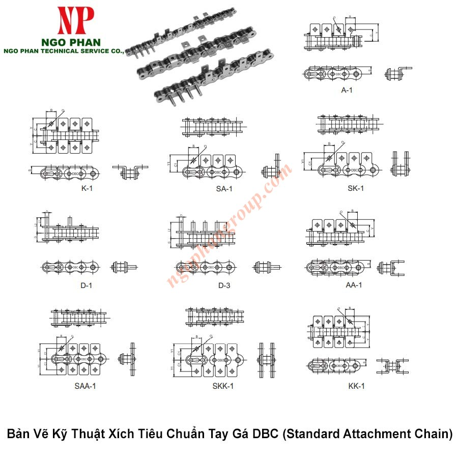 Xich Tieu Chuan Tay Ga DBC Standard Attachment Chain 1
