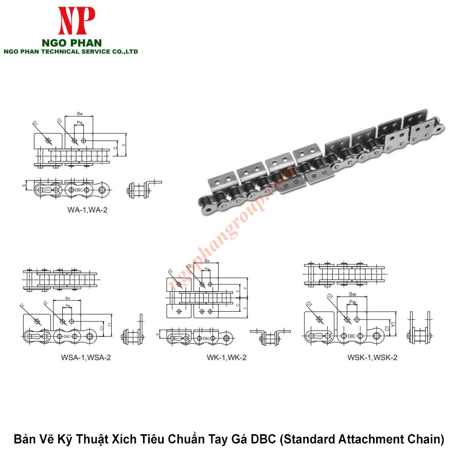 Xich Tieu Chuan Tay Ga DBC Standard Attachment Chain 4